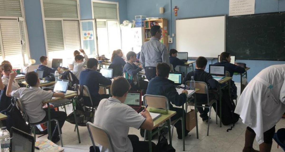 aulaPlaneta introduce el formación a través de las TIC en el Colegio La Concepción de Zaragoza