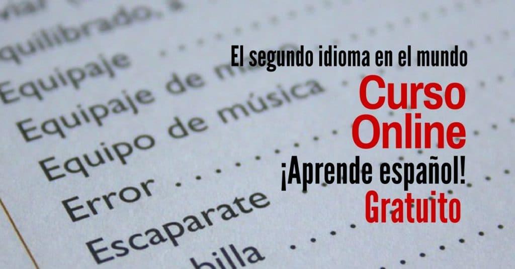 Curso online y regalado para estudiar castellano