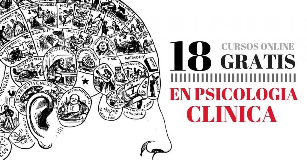 18 Cursos online injustificado de psicología clínica gratuitos !