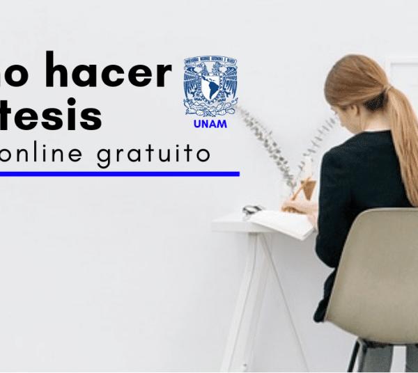 UNAM: Curso online y tirado sobre cómo hacer una memoria