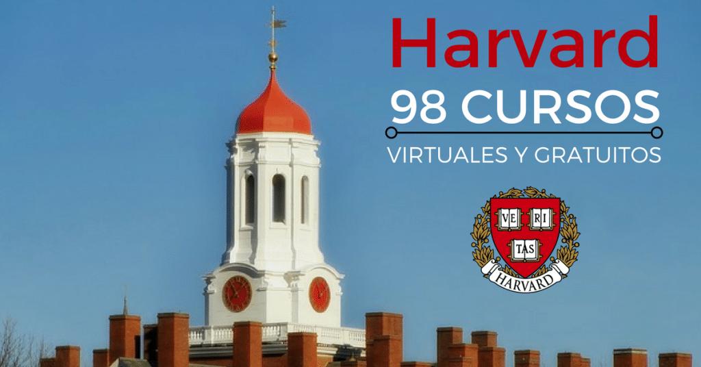 98 cursos online GRATUITOS ofrecidos por la Universidad de Harvard