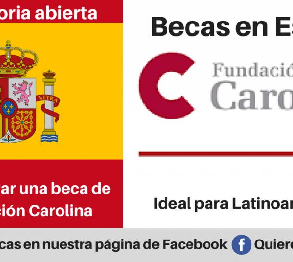 Becas en España para Latinoamericanos – Fundación Carolina