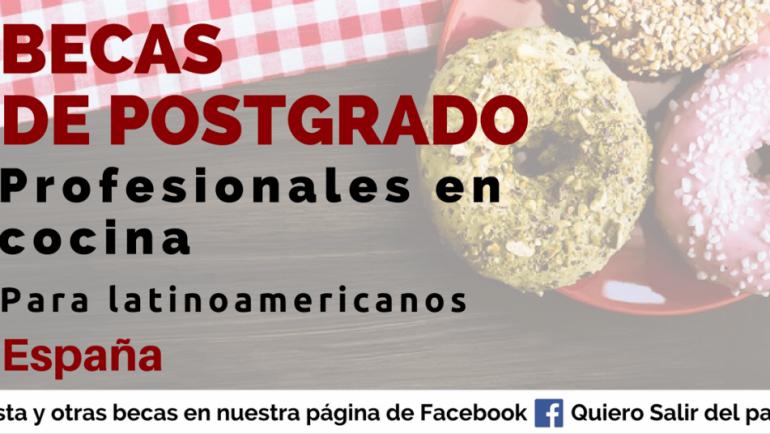Becas en España para profesionales en cocina y seguridad alimentaria