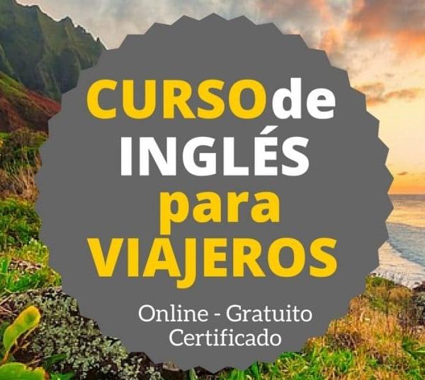 Curso online, tirado y certificado de inglés para viajeros