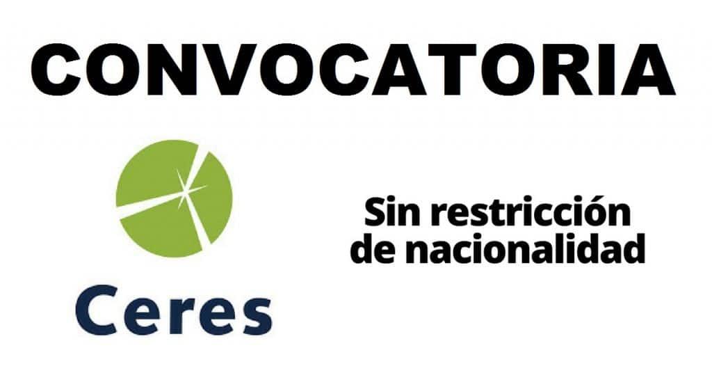 Convocatoria internacional en sostenibilidad con la estructura Ceres
