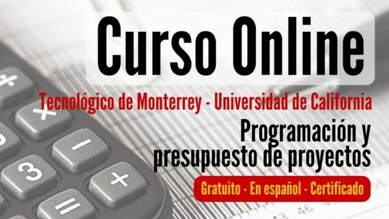 Curso online y tirado sobre programación y presupuestos para proyectos