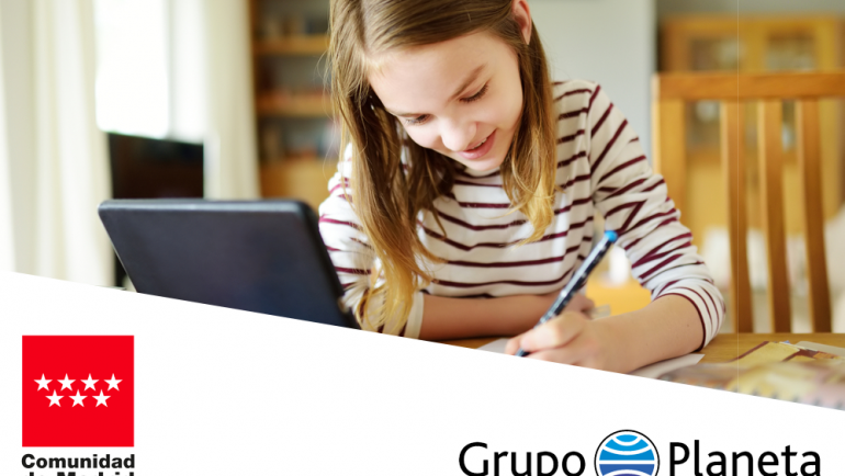 Acuerdo entre el Congregación Planeta y la Comunidad de Madrid para ofrecer los bienes y herramientas digitales de aulaPlaneta a los centros públicos y concertados de la Comunidad