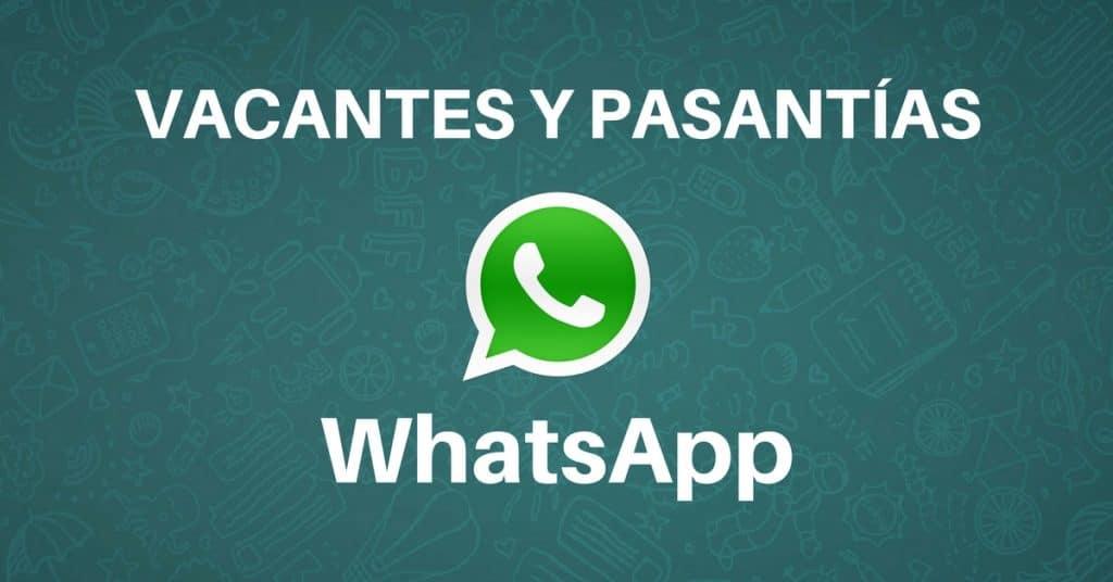 Unete a WhatsApp – vacantes y pasantías disponibles !