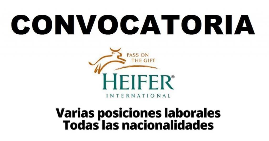 Convocatoria internacional HEIFER: organizacion que trabaja con las comunidades para poner fin al escasez y la pobreza