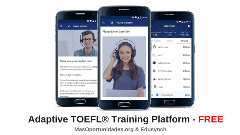 Prepara GRATIS tu examen de TOEFL® en cualquier momento, en cualquier zona.