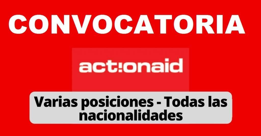 Convocatoria internacional con la estructura Actionaid