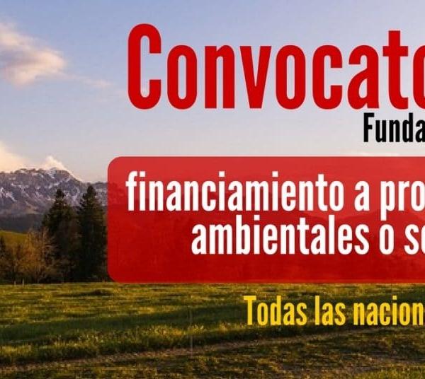 Convocatoria para financiar proyectos ambientales o sociales & categoría