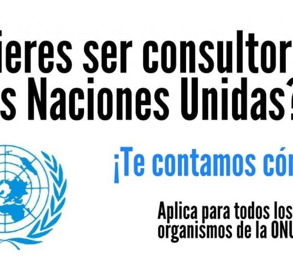 Conviértete en consejero del Sistema de las Naciones Unidas. Te contamos cómo