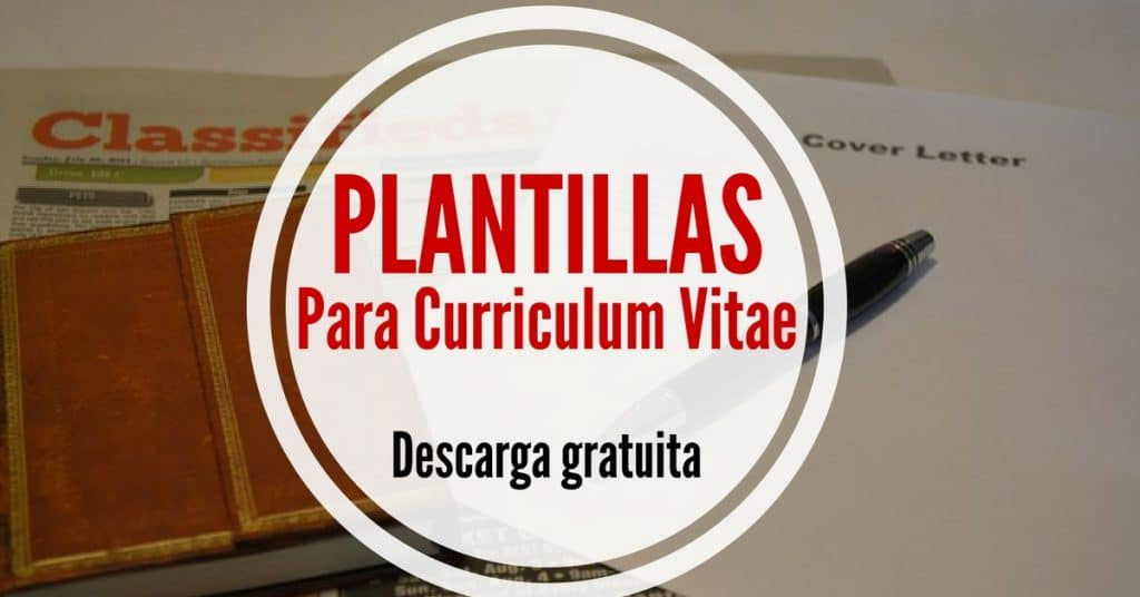 Haz un curriculum con estas 5 plantillas de word