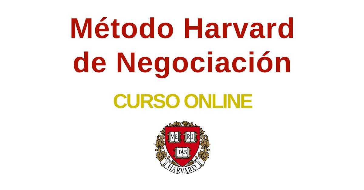 EL famoso curso de negociación – método Harvard